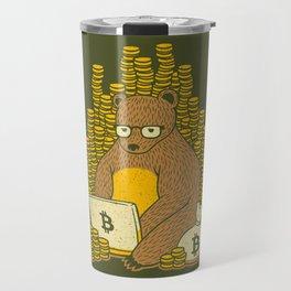 Bitcoin Miner T-shirt Bear Travel Mug