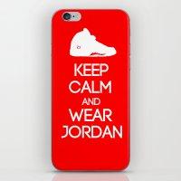 air jordan iPhone & iPod Skins featuring Keep calm and wear Air Jordan V by Yellow Dust