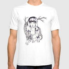 Tree Woman Mens Fitted Tee MEDIUM White