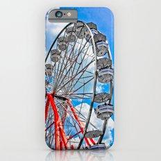 Red, White & Blue Ferris Wheel at the Fair iPhone 6s Slim Case