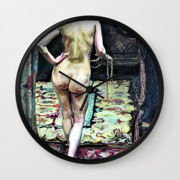 Max Slevogt - Female Nude from the Back - Digital Remastered Edition Wall Clock