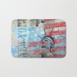 Lady Liberty Stars and Stripes Patriotic Artwork Bath Mat