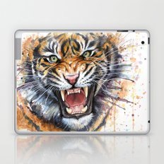 Tiger Roaring Wild Jungle Animal Laptop & iPad Skin