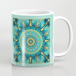Caribbean Gold Mandala Coffee Mug