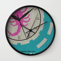 movie poster Wall Clocks featuring Drive - Minimalist Movie Poster by Minimalist Movie Posters