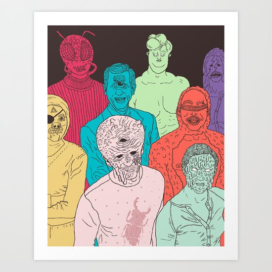 Friends of Beetleman Art Print