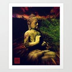 Buddha Sitting In Meditation Art Print