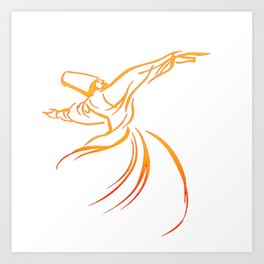 Sema The Dance Of The Whirling Dervish Art Print