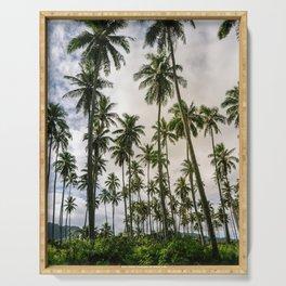 Palm Trees Kauai Hawaii Printable Wall Art | Tropical Beach Nature Ocean Coastal Travel Photography Print Serving Tray