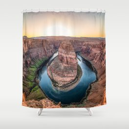 The Bend - Horseshoe Bend During Southwestern Sunset Shower Curtain