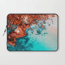 Beach in blue tones Laptop Sleeve
