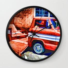 An Old Pickup Truck2 Wall Clock