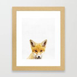 Fox, Baby, Animal, ZOO, Nursery, Minimal, Modern, Wall art Art Print Framed Art Print