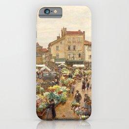 The Flower Market, Paris, France by Firmin Girard iPhone Case