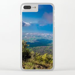 Scenic landscape from Mount Vesuvius in Naples, Italy. Clear iPhone Case