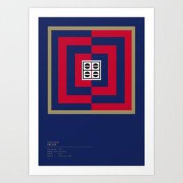 Cagliari Calcio geometric logo Art Print