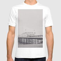 Brighton White Mens Fitted Tee MEDIUM