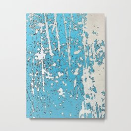 Old chipping paint as abstract artwork Metal Print