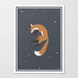 Space Fox Canvas Print