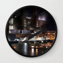 Wolfsburg, Autostadt at night Wall Clock