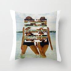 Bee Keen E. Gurls Throw Pillow