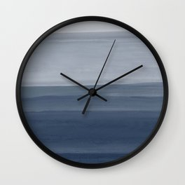 Touching Indigo Blue Watercolor Abstract #1 #painting #decor #art #society6 Wall Clock