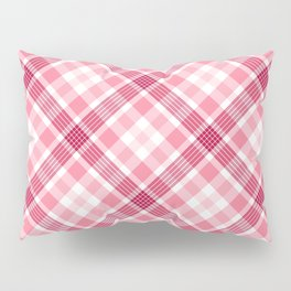 Pink and Red Valentine's Plaid Pillow Sham