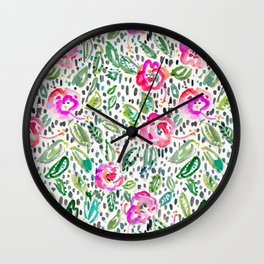 Hibiscus Frolic Wall Clock