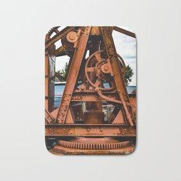 The Old Rusty Ship Crane Bath Mat