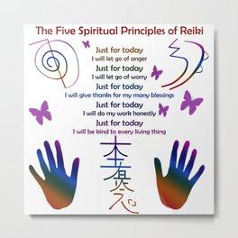 The Five Spiritual Principles of Reiki Metal Print