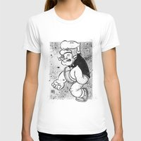 popeye T-shirts featuring POPEYE by CHRIS MASON