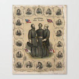 Four versions of the Flags of the Confederacy Canvas Print