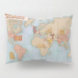 Indiana Jones Inspired Map // Indiana Jones Journey and Artifacts Pillow Sham