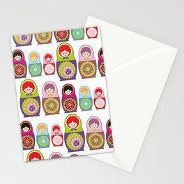 Kawaii Russian dolls Stationery Cards