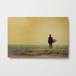 Waiting In Venice - California Surf Print Metal Print