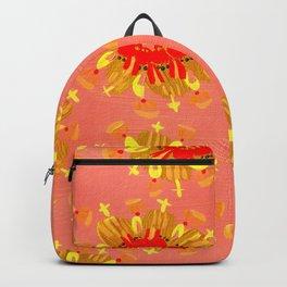 Golden Apricot Rose Backpack