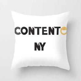 Contento NY Throw Pillow