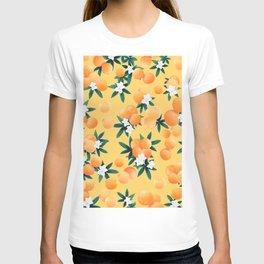 Orange Twist Flower Vibes #3 #tropical #fruit #decor #art #society6 T-shirt