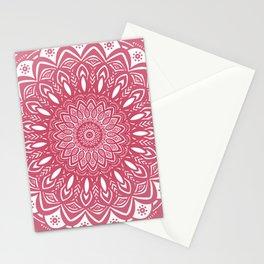 Red Wine Color Mandala Minimal Minimalistic Simple (Yet Bold) Stationery Cards