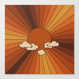 Retro Sunshine Canvas Print