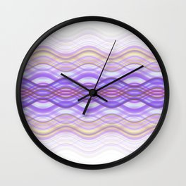 Interlaced (Purple) Wall Clock