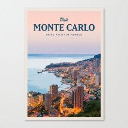 Visit Monte Carlo Canvas Print