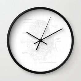 Death-Star-Schematics Wall Clock