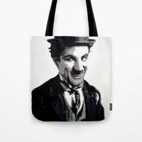 charlie Tote Bags featuring Charlie by AUSKMe2Paint