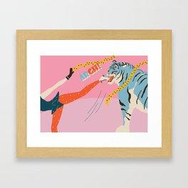Winter Lunch Framed Art Print