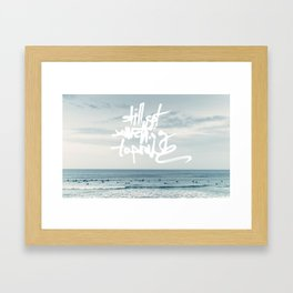 something to prove Framed Art Print