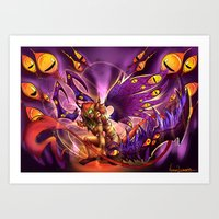 warcraft Art Prints featuring Corruption  by LycaonCreations