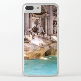 Trevi Fountain at night - Rome, Italy Clear iPhone Case