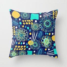 Playful mantra Throw Pillow