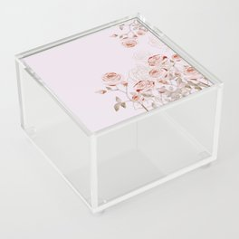 FRENCH PALE ROSES Acrylic Box